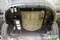 Глушитель овальный (U23L46052) тихий, на трубе 51мм (Лада Веста седан, универсал 1,6-1,8 16кл.), без насадки