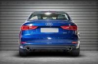 Комплект насадок на глушитель Audi A3 8V круг 90мм. Пустая
